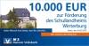 Scheck der MVB über 10.000€ für das Schullandheim Winterburg