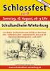 Flyer Schlossfest 2018, Samstag, 18. August, ab 13 Uhr, im Schullandheim Winterburg